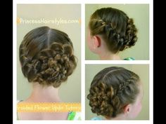 ▶ Braided Flower Updo, Easter & Prom Hairstyles - YouTube