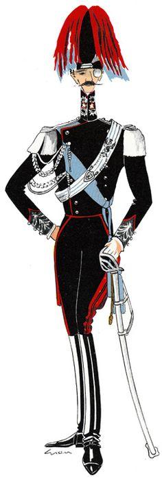 Ufficiale dei Carabinieri in grande uniforme a cavallo 1940