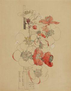 Charles Rennie Mackintosh Beautiful Flower Illustration #flower #illustration #art #beautiful #inspiration #watercolor #botanical #flora