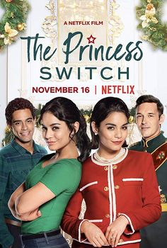 The Princess Switch What happens when Chicago baker Stacy meets a soon-to-be princess who looks exactly like her? Well, they trade places, of course. This holiday season join in the mischief as Vanessa Hudgens stars in The Princess Switch. Hallmark Filme, Hallmark Movies, Hindi Movies, Tv Series Online, Movies Online, Rent Movies, 2018 Movies, Netflix November, Sam Palladio