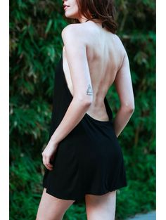 SHARE & Get it FREE | Black Halter Backless Mini DressFor Fashion Lovers only:80,000+ Items • New Arrivals Daily Join Zaful: Get YOUR $50 NOW!