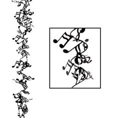 Click for larger picture of MUSICAL NOTE WIRE GARLAND (12/CS) PARTY SUPPLIES