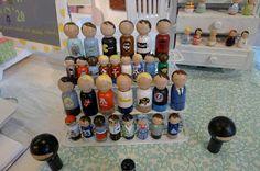 Happy Abby Peg Dolls: Firefly Handmade Makerie Market