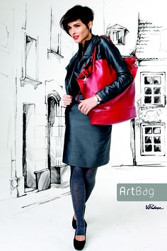Alina Handbag by Artbag.Large, artistic and tasteful bag. Alina is very capacious and practical Leather Skirt, Lady, Skirts, Shopping, Collection, Fashion, Moda, Leather Skirts, Skirt