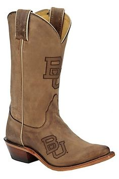 very cute! but wouldnt by a pair of boots that had the colllege I hope to attend....