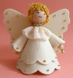 Image gallery – Page 296533956712957986 – Artofit Christmas Angel Ornaments, Unique Christmas Trees, Felt Christmas Decorations, Christmas Makes, Christmas Crafts, Handmade Ornaments, Felt Ornaments, Felt Crafts, Diy And Crafts