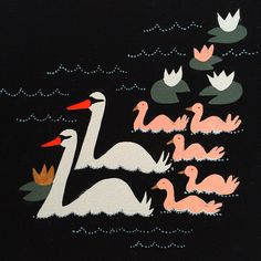 emilyisabellajournal:  Seven swans a swimming.