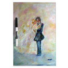 Wedding Dance Whimsical Designer Art Dry Erase Board Exquisitely gorgeous, you will LOVE our Stunning Wedding Dance Whimsical Designer Art Collection. This unique and magnificent collection features a stunning color palette inspired by the lush green gardens of the English Country-side. The perfect Wedding Gift! Designed by artist Marie-Jose Pappas of Innocent Originals.  http://www.zazzle.com/innocentoriginals*