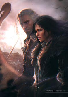 Geralt And Yennefer by shalizeh.deviantart.com on @DeviantArt