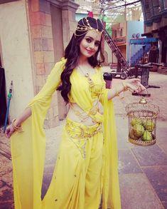 Chahat as Queen Meher in Cute Girl Dresses, Pretty Dresses, Samantha Pics, Ballroom Costumes, Ghagra Choli, Kurti Designs Party Wear, Teen Actresses, Saree Dress, Beautiful Indian Actress