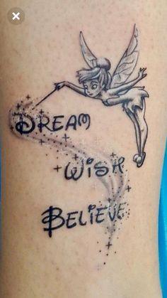 Bff Tattoos, Infinity Tattoos, Cute Tattoos, Beautiful Tattoos, Tattoo Tinkerbell, Disney Tattoos Peter Pan, Little Mermaid Drawings, Tinker Bell Tattoo, Tattoo Mutter