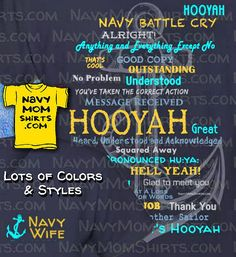 Navy Wife Hooyah Shirts & Hoodies with Anchor are available in lots of Styles and Colors! These are Fabulous and Fun Navy Wife Shirts you'll Love to wear! Navy Mom, Navy Wife, Create T Shirt, Battle Cry, Navy Sailor, Mom Shirts, Shirt Style, Crying, Messages