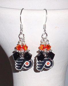We are the Philadelphia Flyers Inspired Earrings by scbeachbling, $15.50