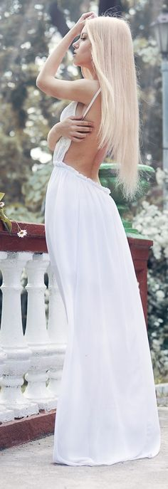 Backless Maxi Gown Bridal Style