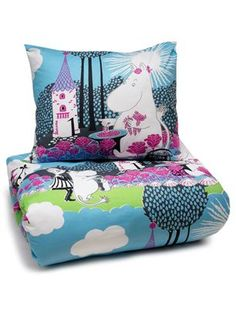 Moomin Quilt cover and pillowcase