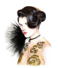 Illustration.Files: Armani Privé F/W 2013 Haute Couture by Lidia Luna