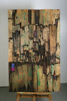 Maderas sobre tablero de madera y pigmentos. Autor: Frutos María.