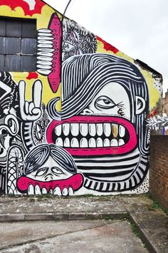 Street-Art Dental by Sweet Toff | Street Art | Street Artists | Art | Urban Art | Modern Art | Urban Artists | Mural | Graffiti | travel | Schomp MINI