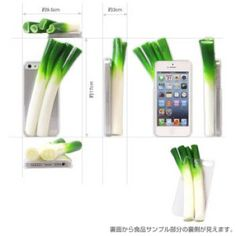 Fresh Real Looking Vegetable iPhone5 case (Spring Onion)