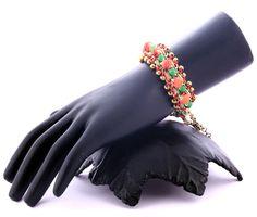 Vogue Crafts & Designs Pvt. Ltd. manufactures Neon Orange and Green Bracelet at wholesale price.