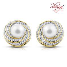 shriya Round Sapphire Pearl Earring