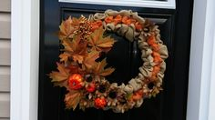 berlap wreath I made