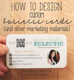 How to Design Custom Business Cards | www.EssentiallyEclectic.com
