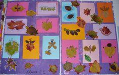 animaletti realizzati con le foglie