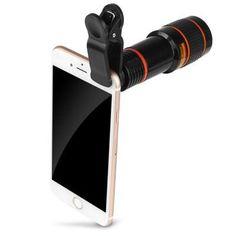 5c16dc54048 12X Optical Zoom Telephoto Telescope Lens Phone Camera - BLACK