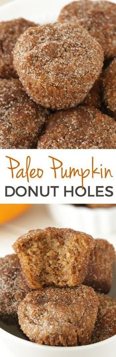 Paleo Cinnamon Sugar Pumpkin Donut Holes {dairy-free, grain-free and gluten-free}