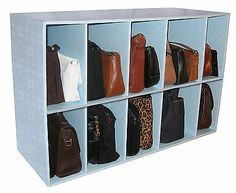 Closet Storage Purse Organizer Shoe Scarf Accessory Dividers Handbag Protector