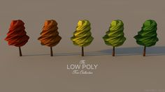 The Low Poly Tree Collection - Abstract Arts by Abstract Arts, via Behance