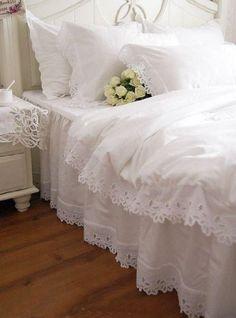 Sweet, Shabby Chic Bedding~❥