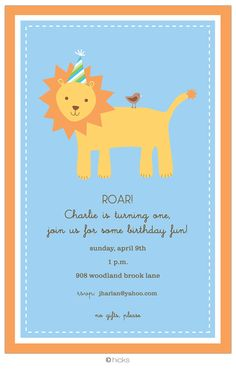 Lion invitation SAfaribabyshower Pinterest Lion and Invitations