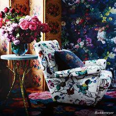 Flowerprints por todos os lados. O kitsch é cult. #Buddemeyer #Bud #NosInspira #Flower #Colorful #Decor