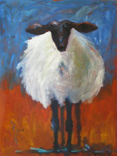 Posts about buy paintings online written by mariekazalia Sheep Paintings, Animal Paintings, Sheep Drawing, Sheep Art, Abstract Animals, Pastel Art, Online Painting, Whimsical Art, Painting Inspiration