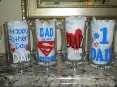 Father's Day mugs - used Cricut to decorate.