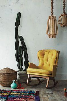 yellow + retro-ish + rocking = perfect chair? i think so.