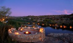 The River Boma is ideal for pre-dinner drinks and star gazing.