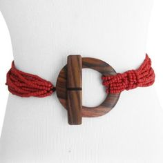 ... » Red Toggle Buckle Stretch