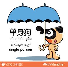"If you're single and ready to mingle, then you are a 单身狗 (dān shēn gǒu) - ""single dog""! The meaning can be a good thing or a bad thing, it's all in how you look at it. Are you a 单身狗 (dān shēn gǒu) - ""single dog""? Learn more about this and other Chinese words that describe the dating scene in China here!"