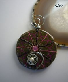Polymer Clay Jewelry Handmade  Polymer Clay Pendant  by Aletis, €20.00