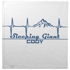 Sleeping Giant Ski Resort  -  Cody - Wyoming Cloth Napkin - kitchen gifts diy ideas decor special unique individual customized
