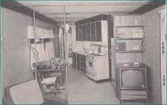 American Coach Slanted Kitchen of 1960