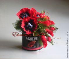 Чайная магия (букет из конфет) - чай,конфеты,букет из конфет,сладкий подарок