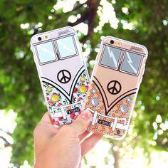 Hippie van phone case