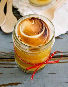 Lemon Meringue Cake in a Jar
