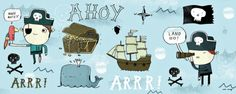 Ahoy Matey I Print by Mike Lowery at Art.com