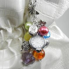 LDS Young Women Values Bag Bling  - Charms with Beads - Purse Jewelry Watch Face Included.