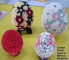 Quilled Easter eggs by Monica Bergeron